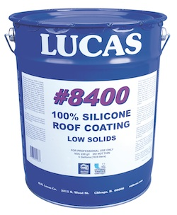 Lucas 8400 100 Percent Silicone Roof Coating