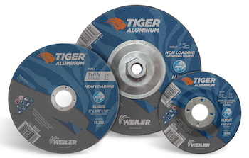 Weiler Tiger aluminum cutting, grinding and combo wheels