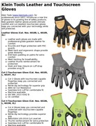 Klein Tools Leather and Touchscreen Gloves