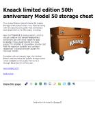 Knaack limited edition 50th anniversary Model 50 storage chest
