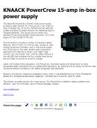 KNAACK PowerCrew 15-amp in-box power supply
