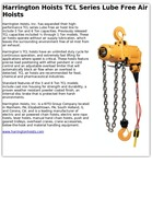 Harrington Hoists TCL Series Lube Free Air Hoists