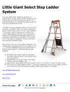 Little Giant Select Step Ladder System