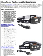 Klein Tools Rechargeable Headlamps