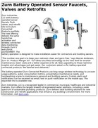 Zurn Battery Operated Sensor Faucets, Valves and Retrofits