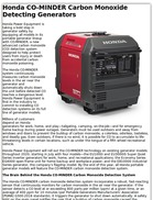 Honda CO-MINDER Carbon Monoxide Detecting Generators
