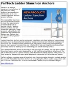 FallTech Ladder Stanchion Anchors