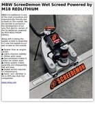MBW ScreeDemon Wet Screed Powered by M18 REDLITHIUM