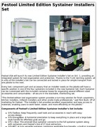Festool Limited Edition Systainer Installers Set