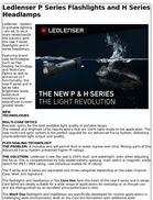 Ledlenser P Series Flashlights and H Series Headlamps