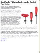 PB Swiss Tools Modular Ratchet Tool Series