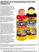 Big Wipes 4x4 Cleaning Wipes Now FDA Registered