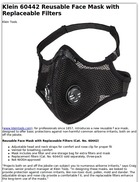 Klein 60442 Reusable Face Mask with Replaceable Filters