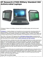DT Research LT300 Military Standard 360 Antimicrobial Laptops