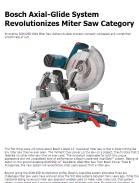Bosch Axial-Glide System Revolutionizes Miter Saw Category