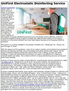 UniFirst Electrostatic Disinfecting Service