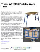 Trojan WT-2438 Portable Work Table
