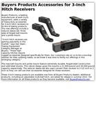 Buyers Products Accessories for 3-Inch Hitch Receivers