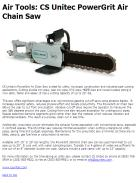 Air Tools: CS Unitec PowerGrit Air Chain Saw