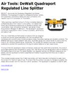 Air Tools: DeWalt Quadraport Regulated Line Splitter