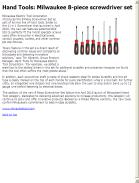 Milwaukee 8-piece screwdriver set