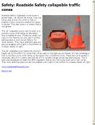 Roadside Safety collapsible traffic cones