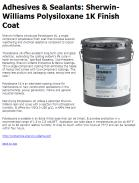 Sherwin-Williams Polysiloxane 1K Finish Coat