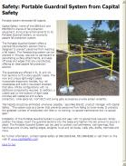 Portable Guardrail System from Capital Safety