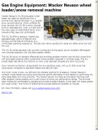 Wacker Neuson wheel loader/snow removal machine