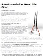 SumoStance ladder from Little Giant Ladder