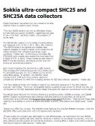 Sokkia ultra-compact SHC25 and SHC25A data collectors