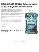 MSA ALTAIR 4X Gas Detector with ALTAIR 4 QuickCheck Station