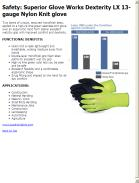 Superior Glove Works Dexterity LX 13-gauge Nylon Knit glove