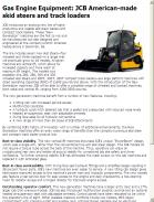 JCB American-made skid steers and track loaders