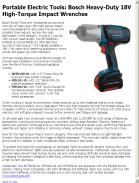 Bosch Heavy-Duty 18V High-Torque Impact Wrenches