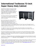 International Toolboxes 73-inch Super Heavy-Duty Cabinet