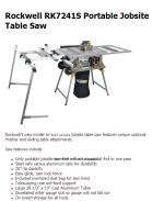 Rockwell RK7241S Portable Jobsite Table Saw