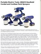 GRACO Handheld Corded and Cordless Paint Sprayers