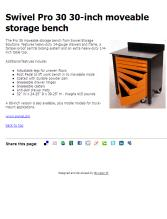 Swivel Pro 30 30 Inch Moveable Storage Bench   Contractor Supply Magazine