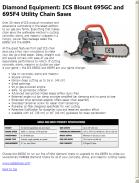 ICS Blount 695GC and 695F4 Utility Chain Saws