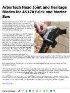 Arbortech Head Joint and Heritage Blades for AS170 Brick and Mortar Saw