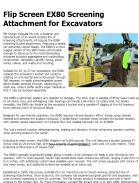Flip Screen EX80 Screening Attachment for Excavators