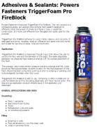 Powers Fasteners TriggerFoam Pro FireBlock