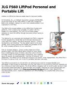 JLG FS60 LiftPod Personal and Portable Lift