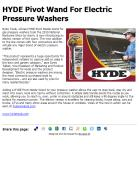 HYDE Pivot Wand For Electric Pressure Washers