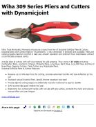 Wiha 309 Series Pliers and Cutters with Dynamicjoint