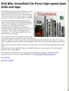 Greenfield Cle-Force high-speed steel drills and taps