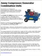 Jenny Compressor/Generator Combination Units