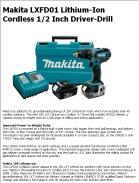Makita LXFD01 Lithium-Ion Cordless 1/2 Inch Driver-Drill