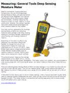 Measuring: General Tools Deep Sensing Moisture Meter